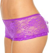Seven Til Midnight SEVEN 'TIL MIDNIGHT Sexy Plus Size Full Figure Lace Up Back Open Crotch Thong