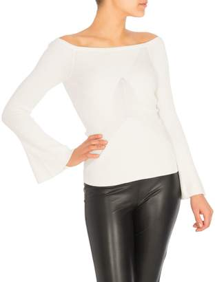 GUESS Caylee Ribbed Bell-Sleeve Sweater