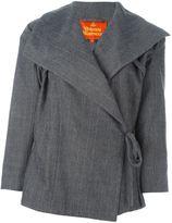 Vivienne Westwood pinstriped wrap jacket