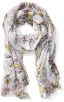 Banana Republic Botanical Self Fringe Scarf