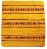 Handcrafted Wool Zapotec Yellow Cushion Cover, 'Zapotec Energy'