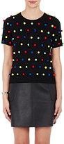 Lisa Perry Women's Pom-Pom Sweater-BLACK