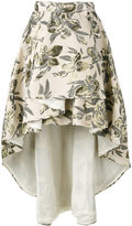 Christian Pellizzari asymmetric printed skirt