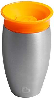 Munchkin Miracle 360 Degree Stainless Steel Sippy Cup, 10 oz/296 ml, Orange