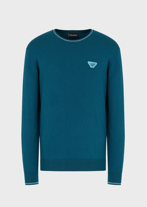 Emporio Armani Sweater With Lenticular-Effect Patch