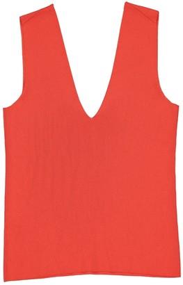 Hermes Red Viscose Tops