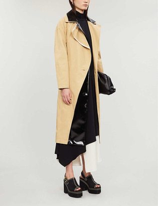 Topshop Dubbie double-breasted cotton trench coat