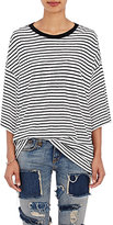 R 13 Women's Striped Oversized T-Shirt