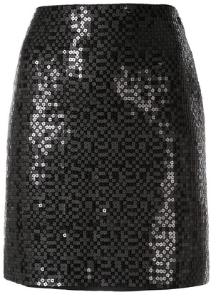 Chanel Pre Owned Sequined Mini Skirt