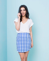 Missy Empire Ivana Royal Blue Check Print Mini Skirt