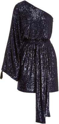 Dundas Sequined One-Shoulder Mini Dress