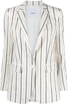 Dondup Notched Lapels Striped Blazer