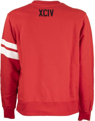 GCDS Logo Crewneck Red