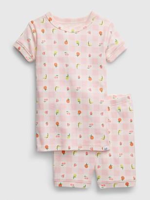 Gap babyGap Checkered Fruit PJ Set