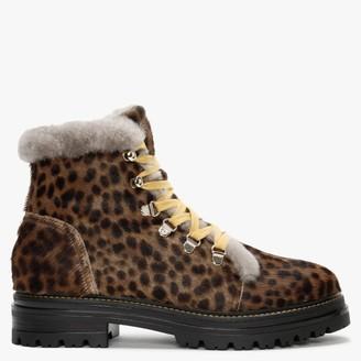 Alba Moda Leopard Calk Hair Walking Boots