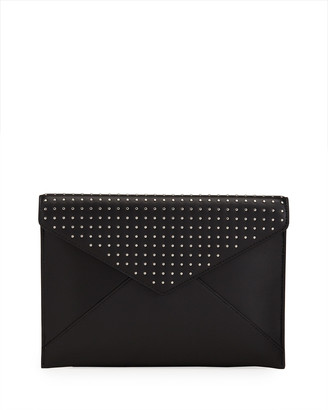 Rebecca Minkoff Leo Studded Leather Clutch Bag