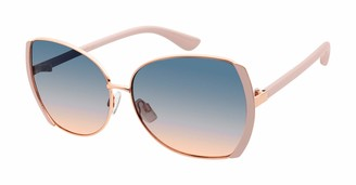 Tahari Women's TH731 Oval-Shaped Metal Sunglasses with 100% UV Protection 57 mm