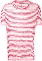 Majestic Filatures striped crewneck T-shirt - men - Linen/Flax - S