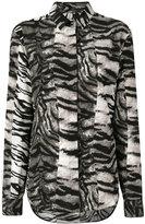Saint Laurent zebra print blouse - women - Silk - 40