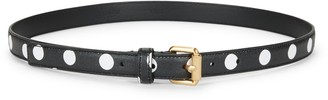 Moschino White Dot Leather Belt