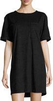 MICHAEL Michael Kors Faux-Suede Boxy T-Shirt Dress, Black