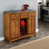 Home Styles Large Serving Buffet - Warm Oak/Stainless Steel
