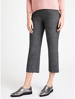 Marella Nausica Checked Trousers, Dark Grey