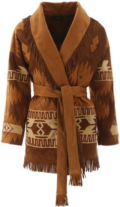 Alanui Embroidered Suede Jacket