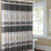 Bed Bath & Beyond Metallic Striped Silver Fabric Shower Curtain