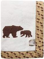 Trend Lab Northwoods Wildlife Framed Fleece Receiving Blanket