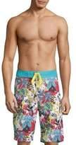 Robert Graham Barbarito Tropical Board Shorts