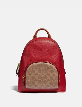Coach Carrie Backpack 23 In Colorblock Signature Canvas