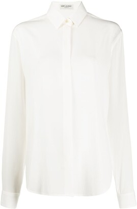 Saint Laurent Button-Up Long Sleeved Shirt