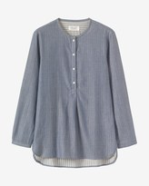 Toast Hazy Stripe Double Faced Shirt
