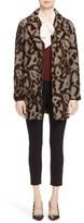 Veronica Beard Women's 'Camille' Leopard Jacquard Cocoon Coat