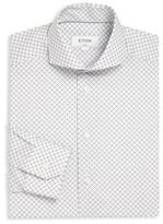 Eton Diamond Print Dress Shirt
