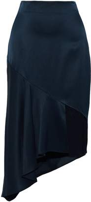 Cushnie Asymmetric Silk-satin Skirt