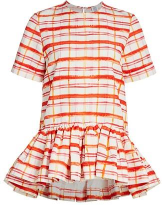 Rosie Assoulin Drop Waist Peplum T-Shirt