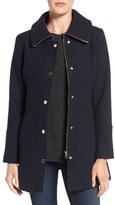 Jessica Simpson Basket Weave Fit & Flare Coat