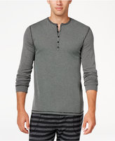 Kenneth Cole Reaction Men's Ribbed Henley Sleep Shirt