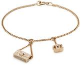 Chanel Vintage Crystal Flapbag Charm Bracelet