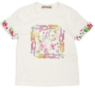Ermanno Scervino Floral Lace Panel T-Shirt