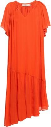 Vanessa Bruno Asymmetric Gathered Silk-crepon Dress