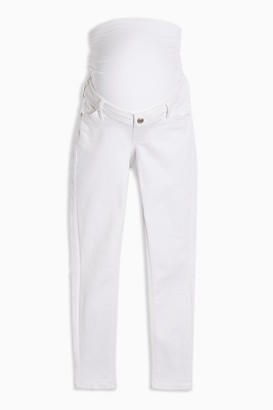 Topshop Womens **Maternity Over The Bump Jamie Jeans In White - White