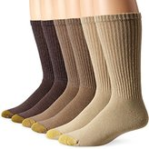 Gold Toe Men's Cotton Crew Athletic Sock 6-Pack