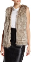 Cupcakes And Cashmere Sleeveless Faux Fur Vest