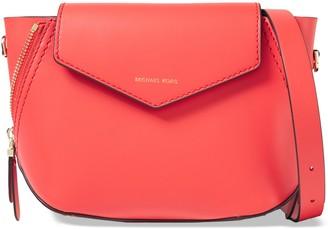 MICHAEL Michael Kors Zip-detailed Leather Shoulder Bag