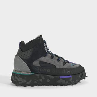 Acne Studios Bertrand W Hiking Boots In Black Calf Leather