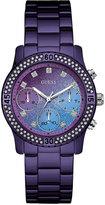 GUESS Women's Purple Stainless Steel Bracelet Watch 37mm U0774L4