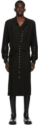 Ann Demeulemeester SSENSE Exclusive Black God of Wild Pippa Shirt Dress